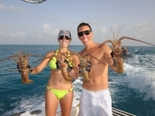 Lobsters and yellowtail